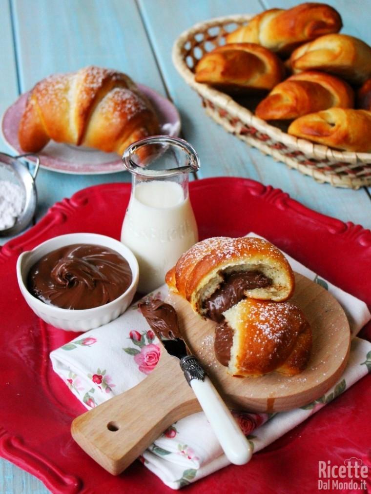 Come fare i Croissant alla Nutella
