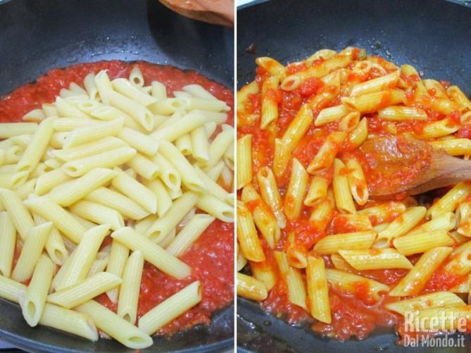 Cuocere la pasta e condirla