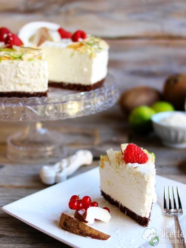 Cheesecake al cocco fredda senza cottura