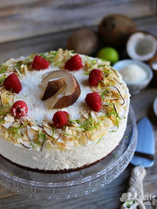 Semplice cheesecake al cocco