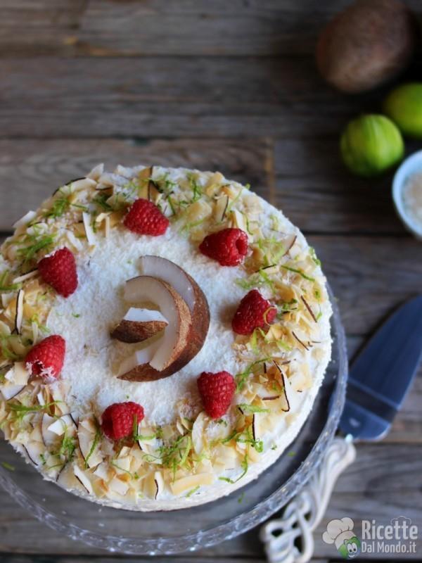 Cheesecake senza cottura al cocco