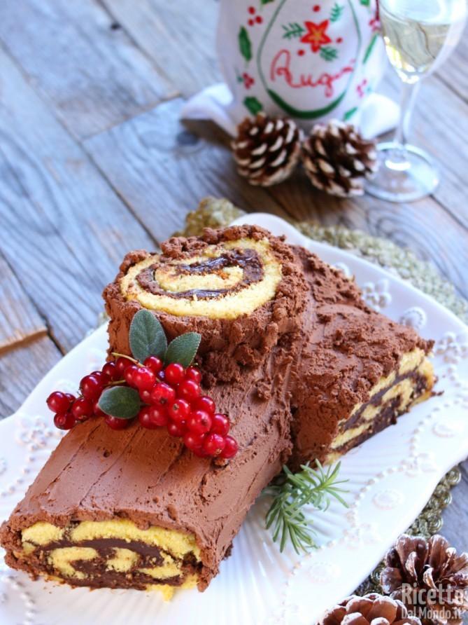 Ricetta del tronchetto al cioccolato di Natale