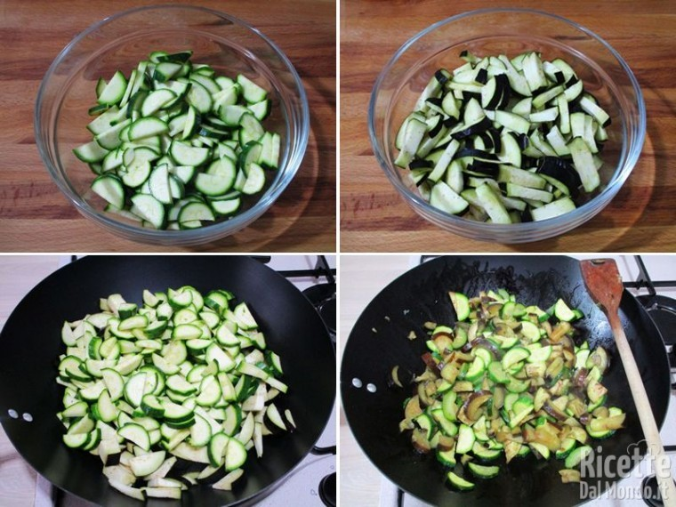 Torta salata con zucchine, melanzane e caciocavallo 2