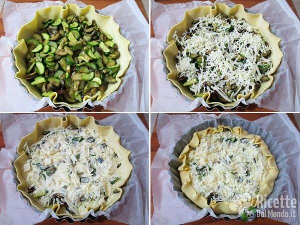 Torta salata con zucchine, melanzane e caciocavallo 5