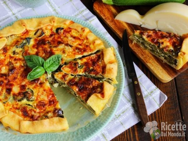 Ricetta quiche di zucchine melanzane e caciocavallo