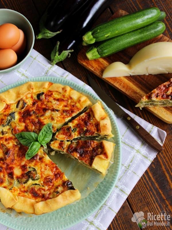 Come fare la quiche di zucchine melanzane e caciocavallo