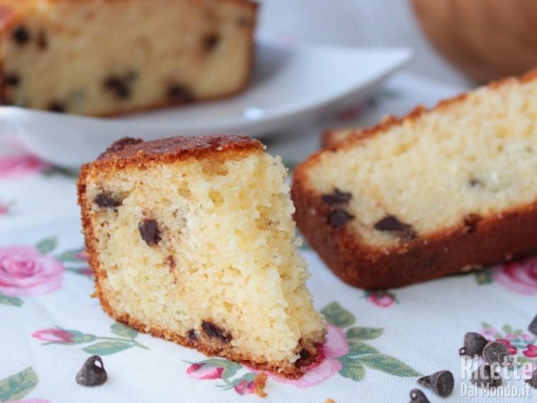 Ricetta plumcake al cocco e gocce di cioccolato