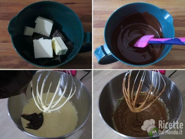 Torta al cioccolato farcita, simil kinder delice 3