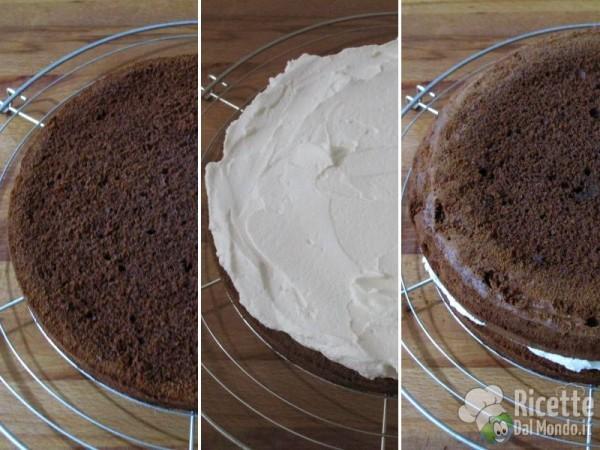 Torta al cioccolato farcita 9