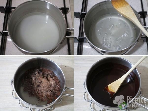 Torta al cioccolato farcita 10