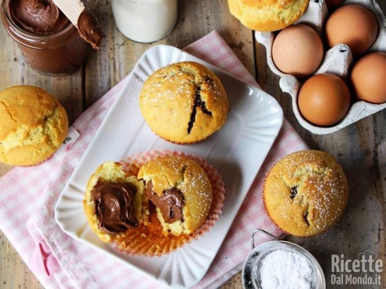 Muffin alla Nutella soffici