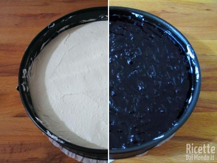 Torta fredda di confettura di mirtilli 6