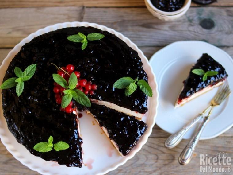 Ricetta cheesecake con confettura di mirtilli
