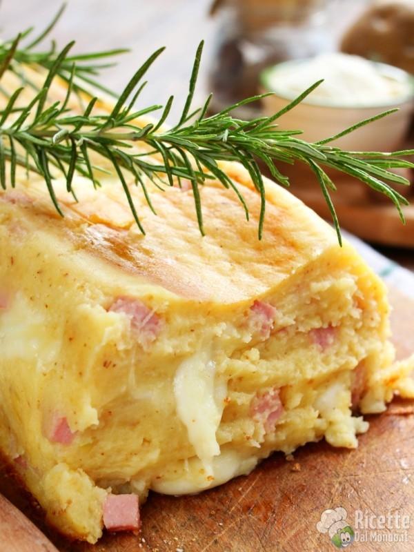 Come fare il polpettone di patate e cotto
