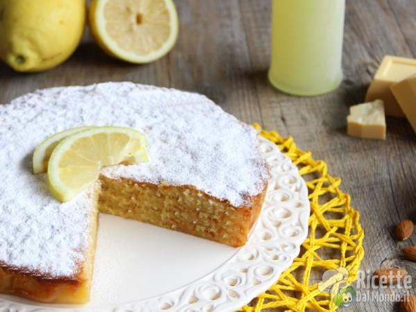 Ricetta torta caprese bianca al limone