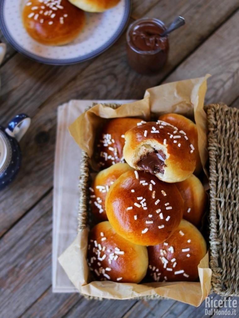 Soffici panini alla Nutella Bimby