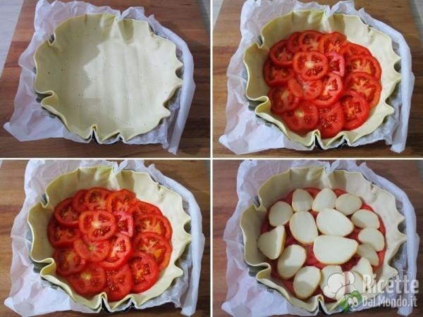 Quiche salata con prosciutto provola e pomodoro 2