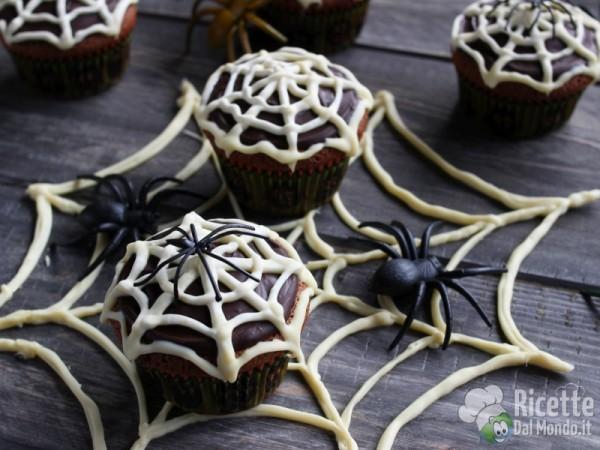 Muffin ragnatela per la festa di Halloween