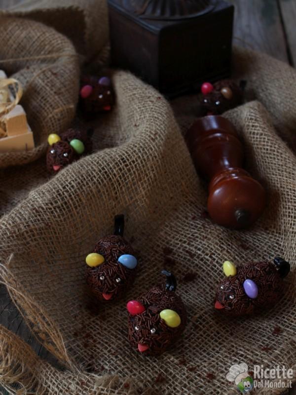 Come fare i topolini di cioccolato di Halloween