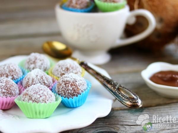 Ricetta palline di Nutella con mascarpone e cocco