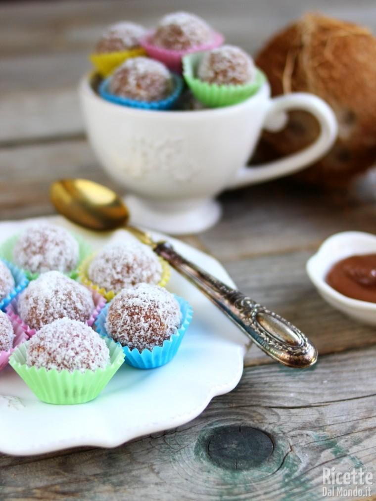 Come fare le palline di Nutella con mascarpone e cocco