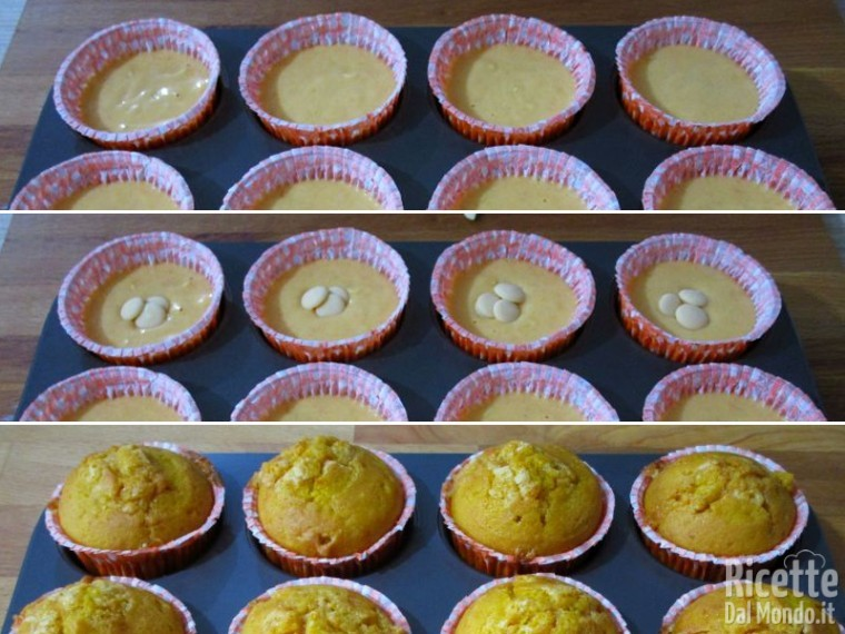 Muffin alla zucca con gocce di cioccolato bianco 5