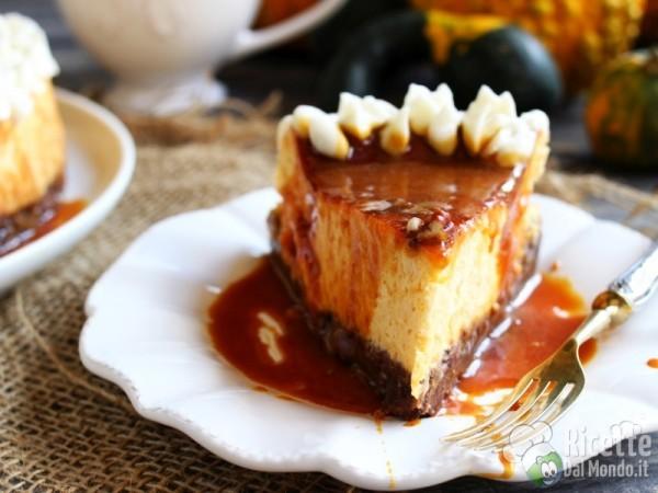 Cheesecake alla zucca di Halloween