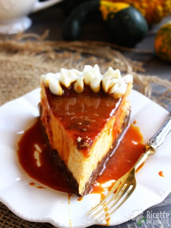 Ricetta semplice della cheesecake alla zucca