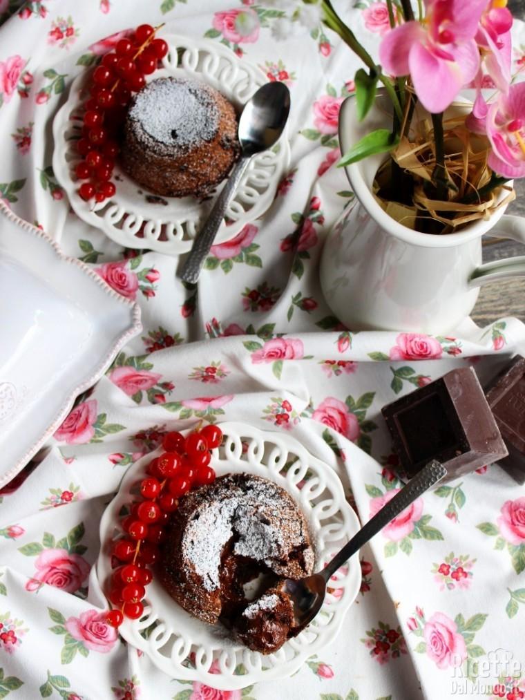 Ricetta Tortino al cioccolato con cuore fondente