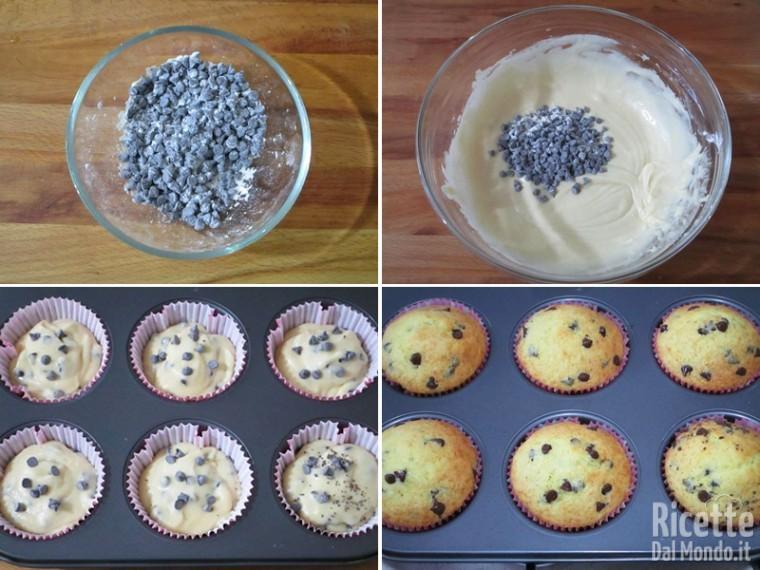 Muffin con le gocce di cioccolato 3