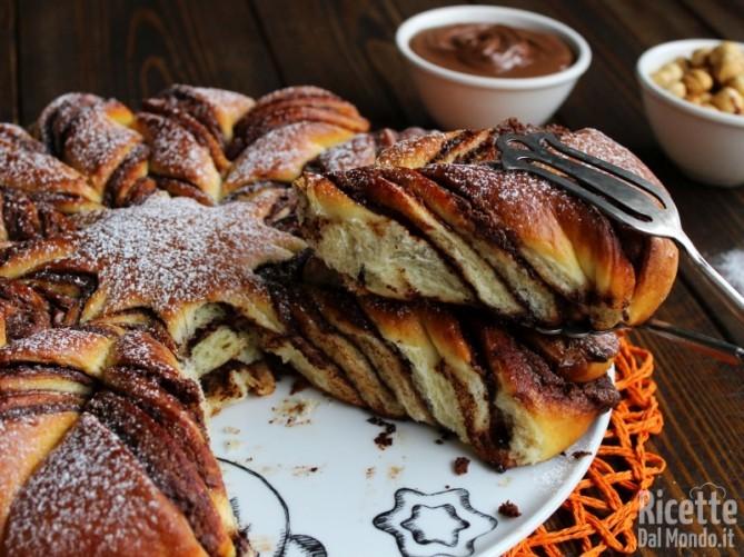 Ricetta Stella di pan brioche alla Nutella