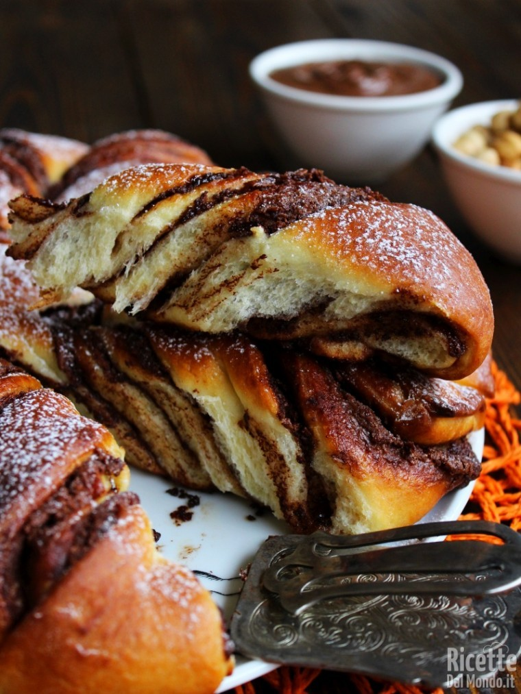 Stella di pan brioche alla Nutella soffice