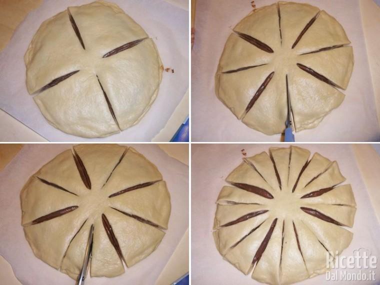 Stella di pan brioche alla Nutella 9