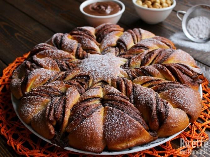Stella di pan brioche alla Nutella farcita