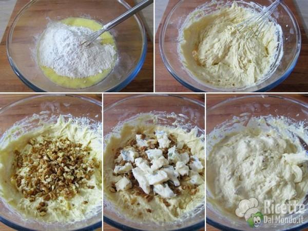 Muffin salati con gorgonzola e noci 3