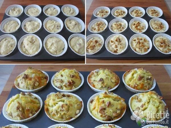 Muffin salati con gorgonzola e noci 4