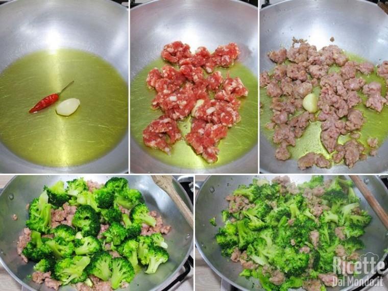 Pasta broccoli e salsiccia 3