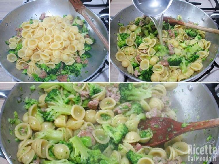Pasta broccoli e salsiccia 4