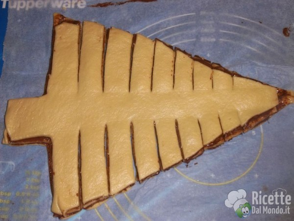 Albero di Natale di Pan Brioche alla Nutella