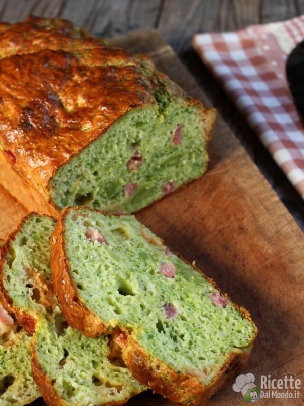 Semplice plumcake salato con broccolo e provola