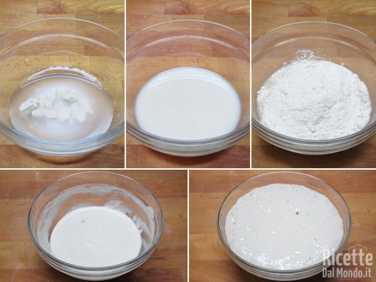 Sciogliere il lievito nel latte