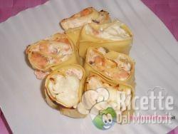 Girelle di Lasagne al Salmone