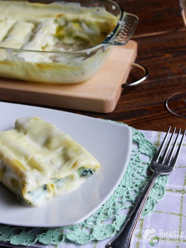 Cannelloni con ricotta e spinaci al forno
