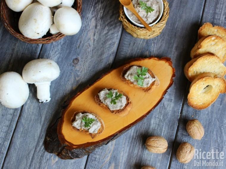 Ricetta patè di funghi champignon