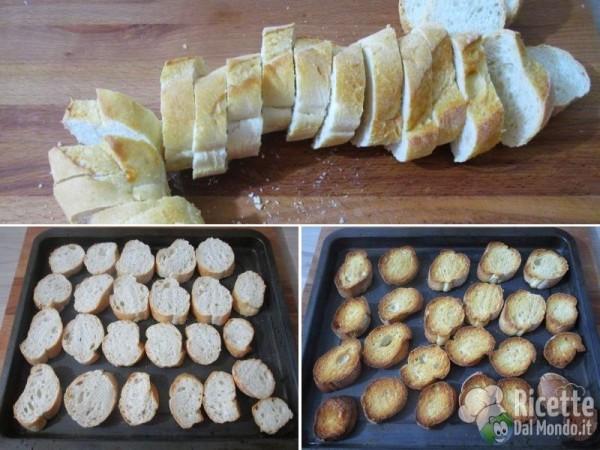 Crostini con patè di funghi champignon 4
