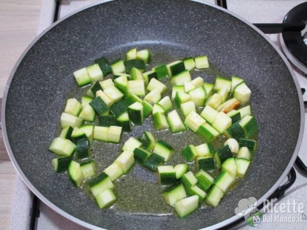 Carbonara vegetariana di zucchine 3