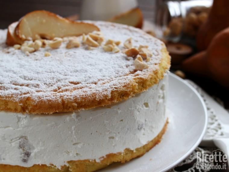 Ricetta torta ricotta e pere