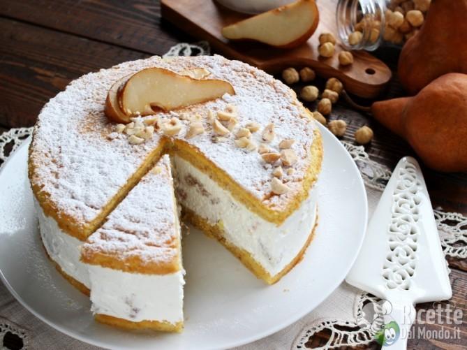 Semplice torta ricotta e pere