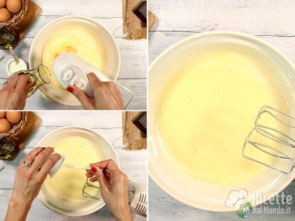 Ciambella soffice senza burro con olio 3