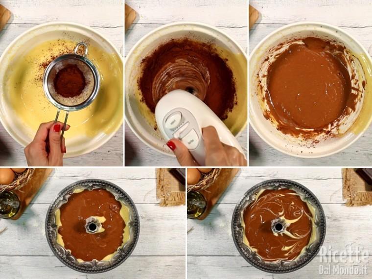 Ciambella soffice senza burro con olio 6